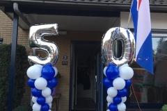 vijftig pilaren blauw wit